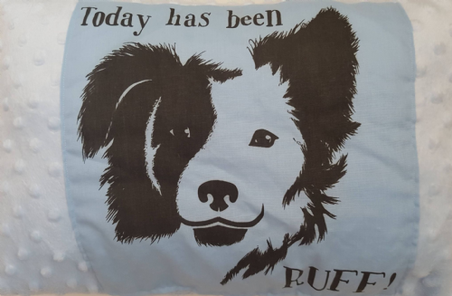Collie dog design soft  cushion